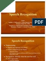 Speech Recognition 2