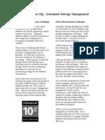 Oracle Database 10G - Automatic Storage Management