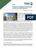 Bouygues Immobilier remporte le Trophée de la qualité sociale et économique aux Trophées de l'aménagement au service de la collectivité pour l'éco-quartier Ginko à Bordeaux