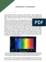 Spettrofotometria e colorimetria