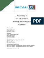 Sec Intel Proceedings 2008