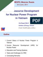 Human Resource Development for Nuclear Power Program in Vietnam