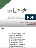 Google Sites laguntza