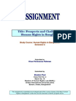 Assignment-1 Human Rights in Bangladesh (Final)