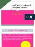 Analysis and Interpretation of Financial Statements Ppt