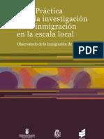 Guía Práctica para la investigación de la inmigración en la escala local Obiten