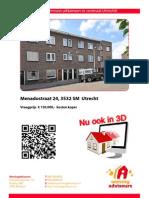 Brochure Menadostraat 24 te Utrecht