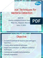 Analytical Techniques for Bacteria Detection
