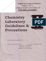Chemistry Laboratory Guidelines