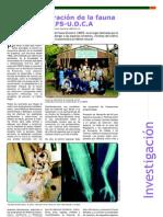 Investigación - Por la Recuperación de la Fauna Silvestre