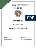 Basic Electronics - I Lab Manuals