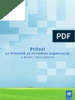 Prilozi Uz Prirucnik Za Nevladine Organizacije u Bosni i Hercegovini