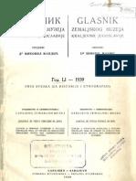 Glasnik Zemaljskog muzeja Kraljevine Jugoslavije u Sarajevu [godina 51, sveska 1; 1939.]