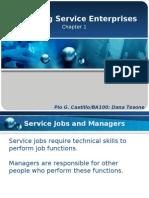 Chapter1 Managing Service Enterprises