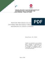DESIGN DE LOUÇAS SANITÁRIAS PARA BANHEIROS PÚBLICOS