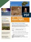 2011 Summer Science Nights Flyer