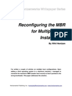 Re Configuring the Mbr