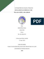 Analisis Kandungan Bod Dan Cod Dalam Sampel Air Limbah