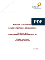 Indice de Expectativas de los Directores de Marketing 2do semestre 2011