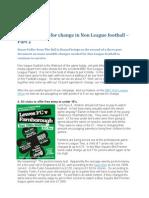 The Manifesto for Change in Non League Footballpt2
