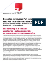 Declaration Commune PS/SPD  21 juin
