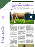 Investigación - El Uso de las Biotecnologías Reproductivas en la Producción Animal