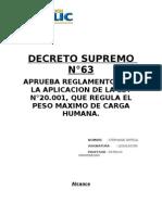 DECRETO SUPREMO N°63