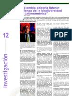 """Investigación - """"Colombia Debería Liderar Defensa de la Biodiversidad en Latinoamérica"""""""