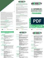 Le programme de l'université d'été européenne des Verts
