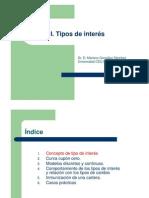 Tipos de interés(1)