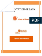 documentation of bank (bank of baroda)