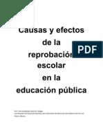Causas y efectos de la reprobación escolar