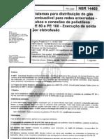 NBR 14465 - Sistemas Para Distribuicao de Gas Combustivel Para Redes Enter Rad As - Tubos e Conexoe