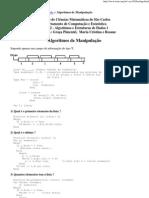 TI - Algoritmos de Manipulação (operações basicas) lista estatica encadeada
