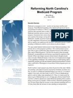 Reforming North Carolina's Medicaid Program