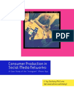 Consumer Production in Social Media Networks