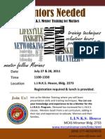 Marine Mentor Training July 2011