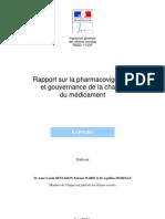 Rapport sur la pharmacovigilance et gouvernance de la chaine du médicament