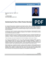 Quickening the Pace of New Product Development