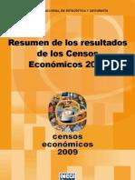 Resumen de los resultados de los Censos Económicos 2009