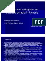 Implement Area Conceptului de Dezvoltare Durabila in Romania Carmen Scutari
