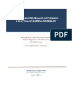 Creating High Performance Government