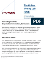 How to Begin to Write