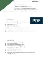 Variante Matematica M2 2009
