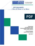DORFMAN Off Balance Youth, Race & Crime in the News