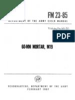 FM-23-85 60mm Mortar M19 1967