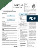 Boletín Oficial de la Nación 21-06-2011