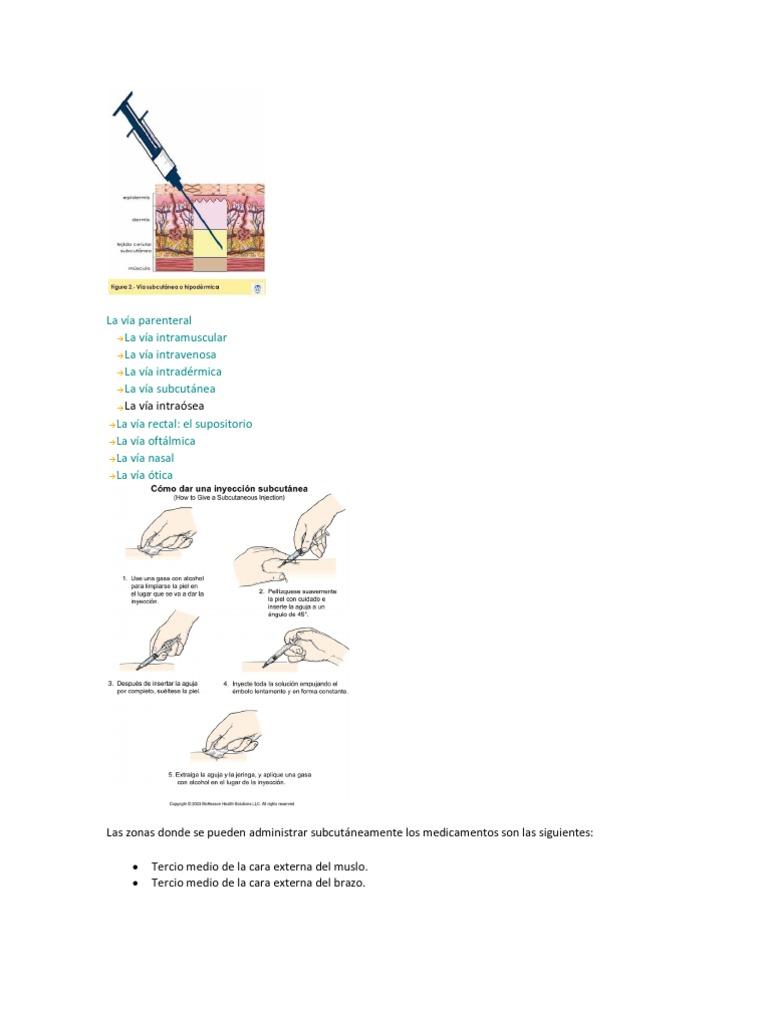Inyecciones subcutaneous para bajar de peso