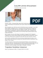 Bob Sadino Dukung SMK Lahirkan Wirausahawan
