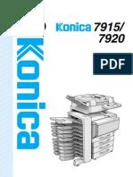 Konica 7920 User Manual